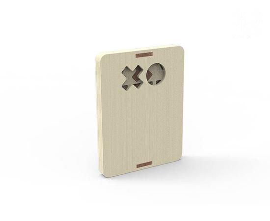 Изделия из дерева МДФ Игра настольная крестики нолики (дорожный вариант) дерево 3DLV-19-8515 tm-19-8515 купить в твоимодели.рф