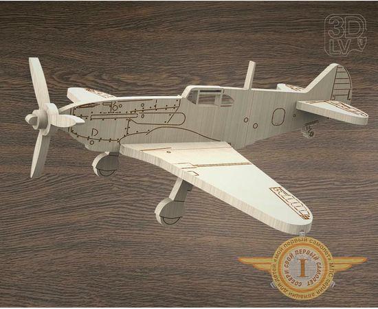 """Изделия из дерева МДФ ЛаГГ-3 самолет СССР из  дерева серия МПС """"Мой первый самолет"""" tm-19-8676 купить в твоимодели.рф"""