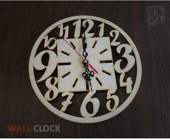 Изделия из дерева МДФ Часы №1 из натурального дерева с креплением на стену 220 мм tm-19-8521 купить в твоимодели.рф