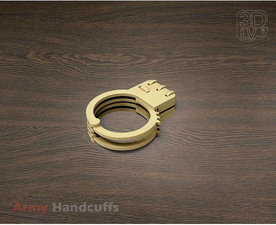 Изделия из дерева МДФ Наручники собранные копия из фанеры 1:1 (3DLV-19-8525) tm-19-8525 купить в твоимодели.рф