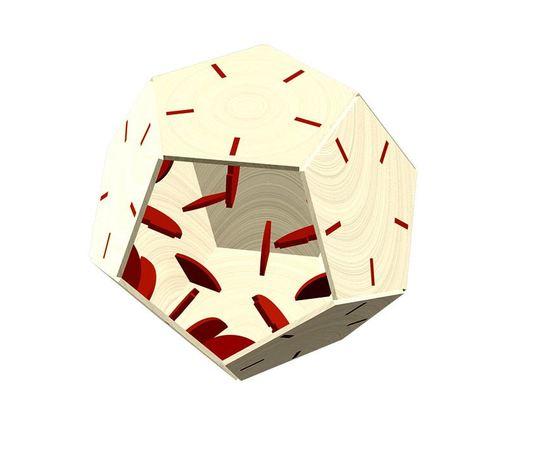 Изделия из дерева МДФ 12 гранный шар макет в векторе DXF фанера 4 мм (200 мм) tm-19-8672 купить в твоимодели.рф