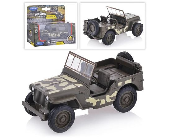 Коллекционные машинки Модель коллекционная Jeep Willy's Welly 43723CM 1:36 tm-19-8554 купить в твоимодели.рф