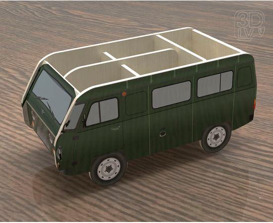 Изделия из дерева МДФ Органайзер для канцелярии в виде УАЗ 3909 (военная) tm-19-8741 купить в твоимодели.рф