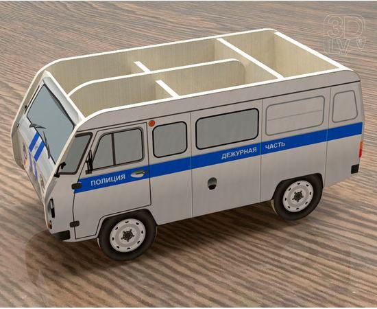 Изделия из дерева (фанеры) Органайзер для канцелярии в виде УАЗ 3909 (Полиция) tm-19-8742 купить в твоимодели.рф