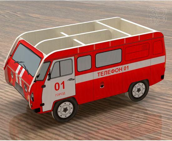 Изделия из дерева МДФ Органайзер для канцелярии в виде УАЗ 3909 (Пожарная охрана) tm-19-8744 купить в твоимодели.рф