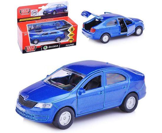 Масштабные модели Автомобиль Skoda Rapid Технопарк 1:36 (железная модель) tm-19-8538 купить в твоимодели.рф