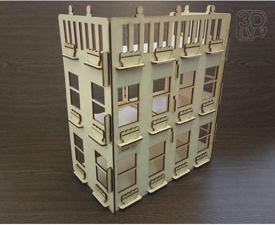 Изделия из дерева МДФ Кукольный домик мечты из дерева Penthouse №1 3DLV-19-8509 tm-19-8509 купить в твоимодели.рф
