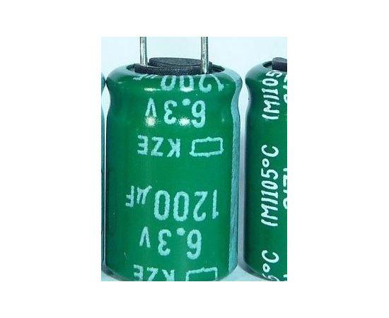 Радиодетали 1200 мкф, 6.3В, 105C NIPPON серия KZE Конденсатор электролитический tm-19-8681 купить в твоимодели.рф