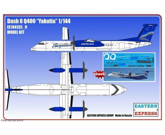 Склеиваемые модели  ЕЕ144135_9 Авиалайнер Dash 8 Q400 Якутия - самолёт 1/144 tm-19-8837 купить в твоимодели.рф