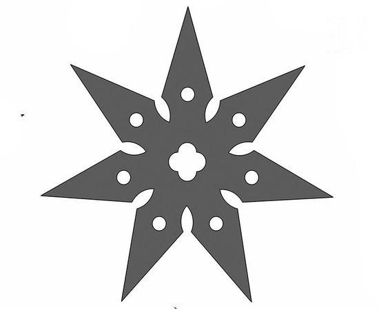 Изделия из дерева МДФ Сюрикен ниндзя №8 копия из дерева в масштабе 1:1 tm10025-8 купить в твоимодели.рф
