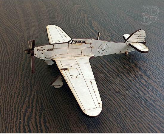 """Изделия из дерева МДФ Hawker Hurricane самолет Британии из дерева серия МПС """"Мой первый самолет"""" tm-19-8670 купить в твоимодели.рф"""