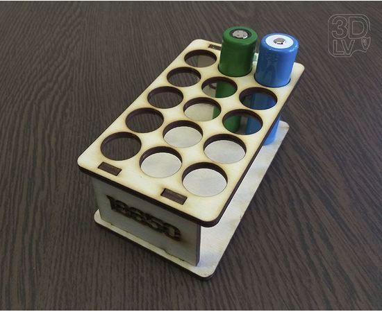 Изделия из дерева (фанеры) Подставка органайзер на 15 аккумуляторов типоразмера 18650 tm-19-8816 купить в твоимодели.рф