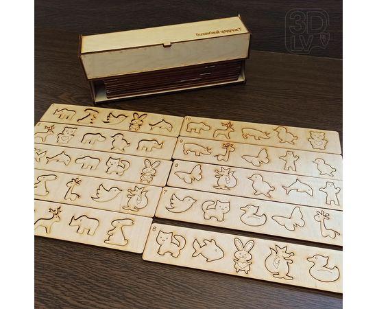"""Изделия из дерева (фанеры) Лото - пазлы набор 50 детских пазлов """"Животные"""" из дерева 3DLV-10188 tm10188 купить в твоимодели.рф"""