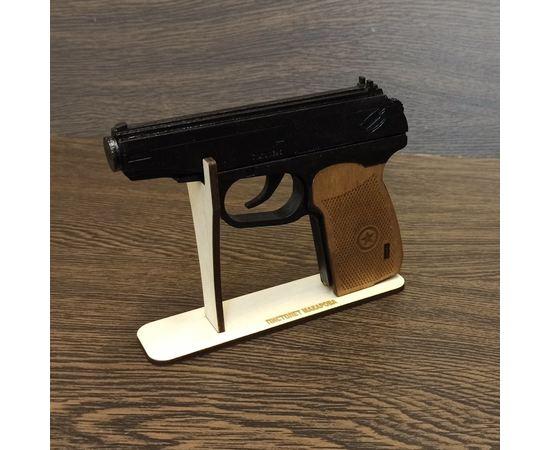 Изделия из дерева (фанеры) Подставка для пистолета Макарова ПМ TM10190-SK из дерева собранная tm10190-SK+P купить в твоимодели.рф