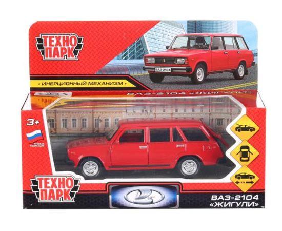 Масштабные модели Модель ВАЗ 2104 ЛАДА Жигули Технопарк 2104-12-RD 1:36 [Красная] tm-19-9382 купить в твоимодели.рф