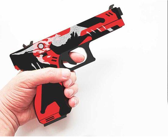 """Изделия из дерева (фанеры) Резинкострел пистолет Glock-18 """"Blood Snowr"""" CS:GO из дерева tm-19-9253 купить в твоимодели.рф"""