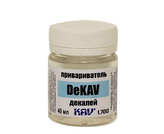 Необходимое для моделей KAV L700 DeKAV - Привариватель декалей 40мл. tm-19-9314 купить в твоимодели.рф