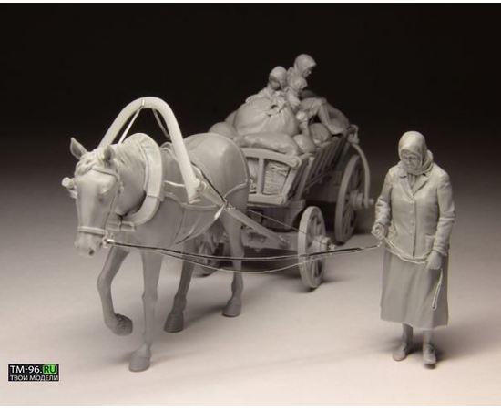 Склеиваемые модели  Stalingrad S-3011 Беженцы с телегой tm01531 купить в твоимодели.рф