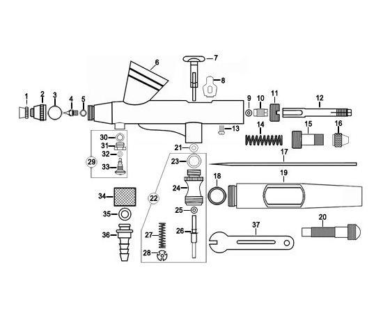 Необходимое для моделей JAS 1124 Аэрограф широкого спектра применения (Air control) tm00986 купить в твоимодели.рф