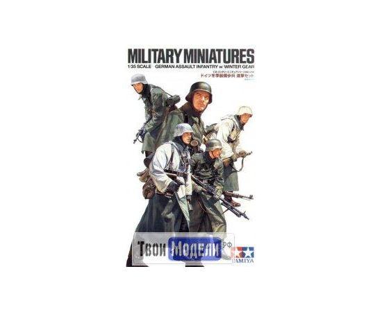 Склеиваемые модели  Tamiya 35256 Немецкие солдаты в зимнем обмундировании (5 фигур) tm01457 купить в твоимодели.рф