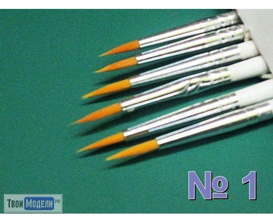 Оборудование для творчества JAS 3606 Кисть круглая № 1 (нейлон) tm01042 купить в твоимодели.рф