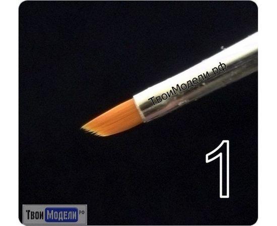Оборудование для творчества JAS 3631 Кисть ретушная  № 1 (нейлон) tm01065 купить в твоимодели.рф
