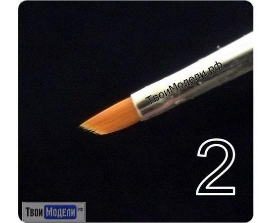 Оборудование для творчества JAS 3632 Кисть ретушная  № 2 (нейлон) tm01049 купить в твоимодели.рф