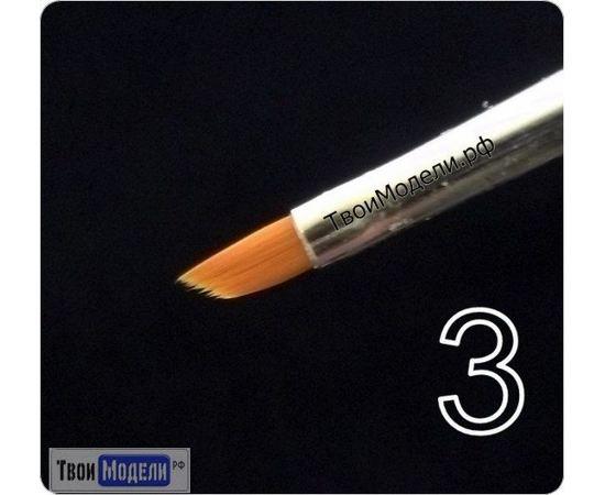 Оборудование для творчества JAS 3633 Кисть ретушная  № 3 (нейлон) tm01066 купить в твоимодели.рф