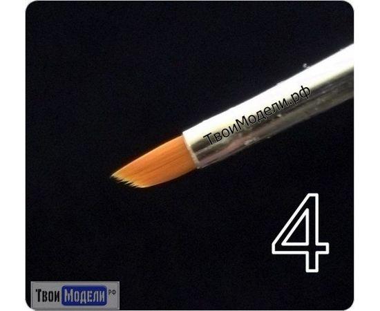 Оборудование для творчества JAS 3634 Кисть ретушная  № 4 (нейлон) tm01055 купить в твоимодели.рф