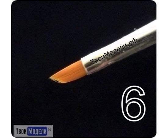 Оборудование для творчества JAS 3636 Кисть ретушная  № 6 (нейлон) tm01059 купить в твоимодели.рф