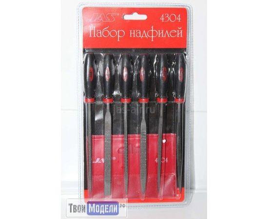 Оборудование для творчества JAS 4304 Набор надфилей с ручками,  6 шт tm01138 купить в твоимодели.рф