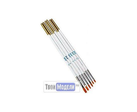Оборудование для творчества JAS 3694 Набор ретушных кистей синтетика, 6 шт. (№ 1, 2, 3, 4, 5, 6) (нейлон) tm01067 купить в твоимодели.рф