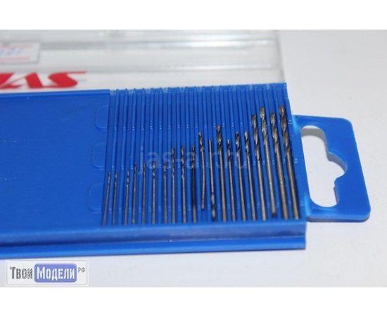 Оборудование для творчества JAS 4222 Мини-сверла, диаметр 0,3 - 1,6 мм, набор 20 шт., HSS tm00952 купить в твоимодели.рф