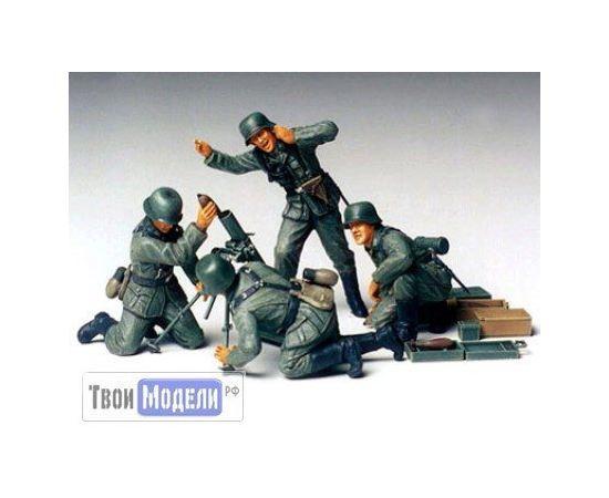 Склеиваемые модели  Tamiya 35193 Немецкая пехота, расчёт 80-мм миномёта tm01462 купить в твоимодели.рф