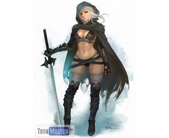 Склеиваемые модели  KD 28135 Воин женщина (Фантастика 23мм) tm01479 купить в твоимодели.рф