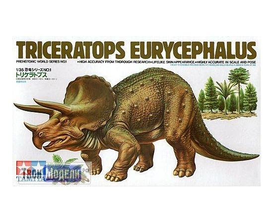 Склеиваемые модели  Tamiya 60201 динозавр Triceratops Eurycephalus tm01465 купить в твоимодели.рф