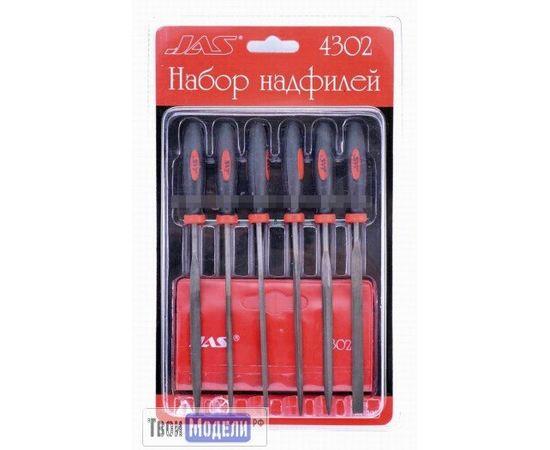 Оборудование для творчества JAS 4302 - Набор надфилей с ручками, 6 шт. tm01176 купить в твоимодели.рф