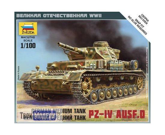 Склеиваемые модели  zvezda 6151 Звезда Pz-4 AUSF.D Немецкий средний танк 1/100 tm01226 купить в твоимодели.рф