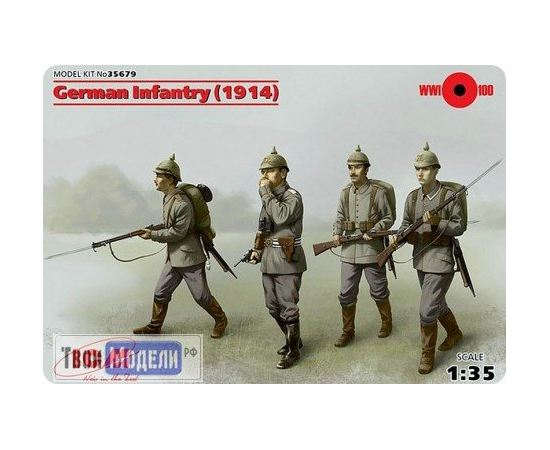 Склеиваемые модели  ICM 35679 Германская пехота война 1914 г. tm01381 купить в твоимодели.рф