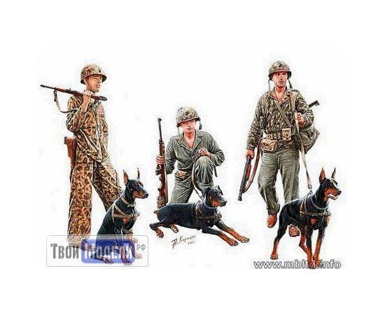Склеиваемые модели  Master Box 35155 Корпус морской пехоты США и собаки tm01485 купить в твоимодели.рф