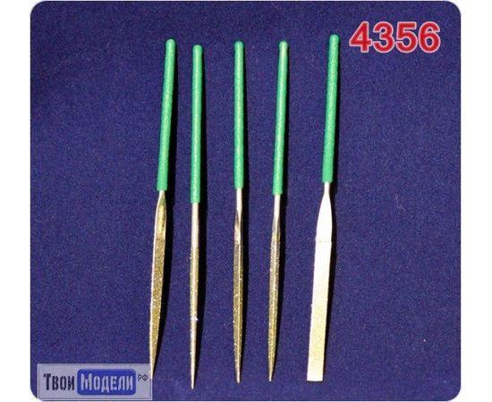 Оборудование для творчества JAS 4356 Надфили алмазные. Набор 5 шт. № 120 (2*100) в чехле tm01170 купить в твоимодели.рф