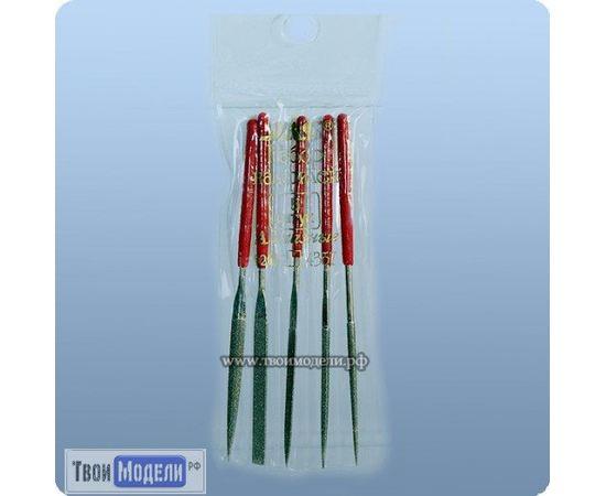 Оборудование для творчества JAS 4357 Надфили алмазные. Набор 5 шт. в чехле tm01173 купить в твоимодели.рф