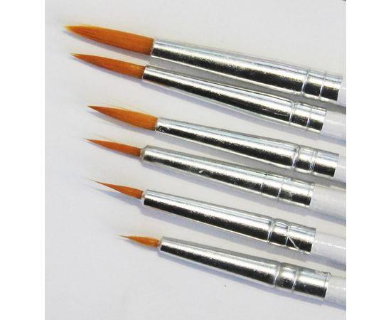 Оборудование для творчества JAS 3691 Набор круглых кистей JAS,  6 шт. (№ 0000, 000, 00, 0, 1, 2) (нейлон) tm01060 купить в твоимодели.рф
