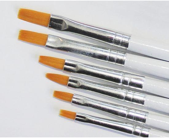 Оборудование для творчества JAS 3693  Набор плоских кистей синтетика,  6 шт. (№ 1, 2, 3, 4, 5, 6) (нейлон) tm01050 купить в твоимодели.рф