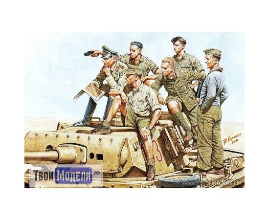 Склеиваемые модели  Master Box 3561 Фигурка Роммеля с экипажем танка tm01510 купить в твоимодели.рф