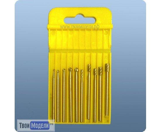 Оборудование для творчества JAS 4391 Набор 10 боров из металла HSS  хвостовик  3,2 мм tm01085 купить в твоимодели.рф