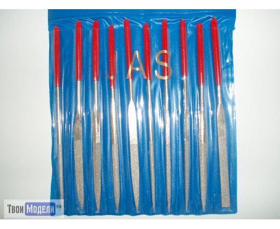Оборудование для творчества JAS 4351 Набор надфилей, алмазные, 10шт tm01178 купить в твоимодели.рф