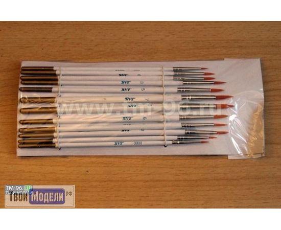 Оборудование для творчества JAS 3692 Набор круглых кистей синтетик, 12 шт. (нейлон) tm01047 купить в твоимодели.рф