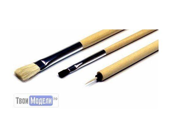 Оборудование для творчества Tamiya 87066 Набор из 3-х кисточек (конский волос) tm01061 купить в твоимодели.рф