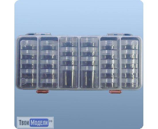 Оборудование для творчества JAS 9022 Набор баночек 28 шт контейнер 27 х 12,5 см tm01129 купить в твоимодели.рф